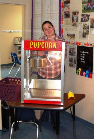 Liz and Popcorn
